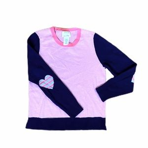 Crewcuts navy/pink sweater
